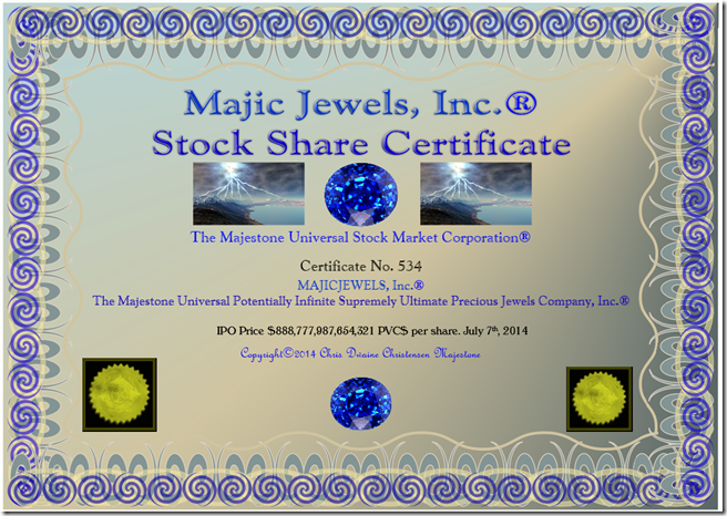 Majic Jewels, Inc Certificate 7-7-14