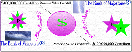 Paradise Value Credits Image with Galaxy & Lightning